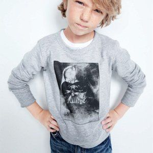 Crewcuts Glow-In-The-Dark Darth Vader Sweatshirt